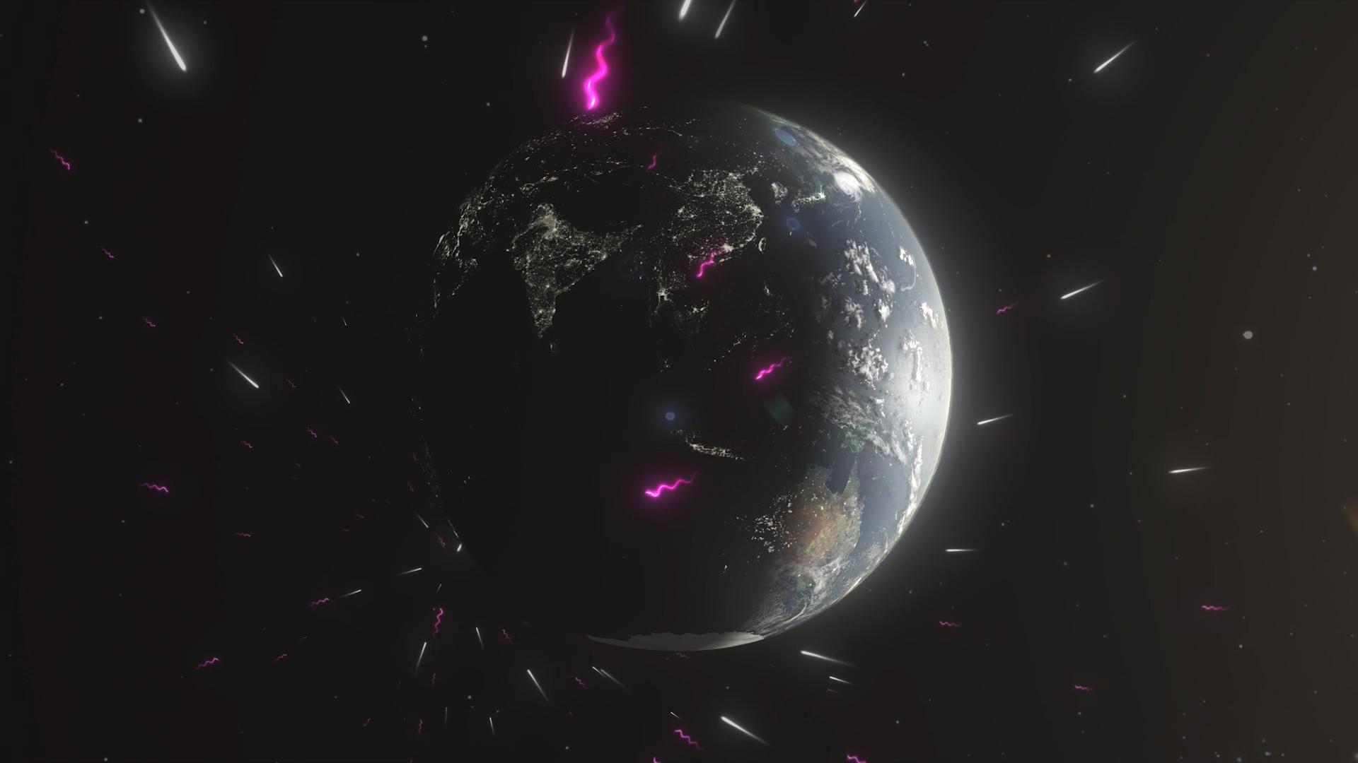 Animation: Blazar emission reaches Earth