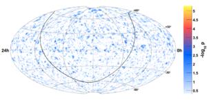 40-string neutrino sky map