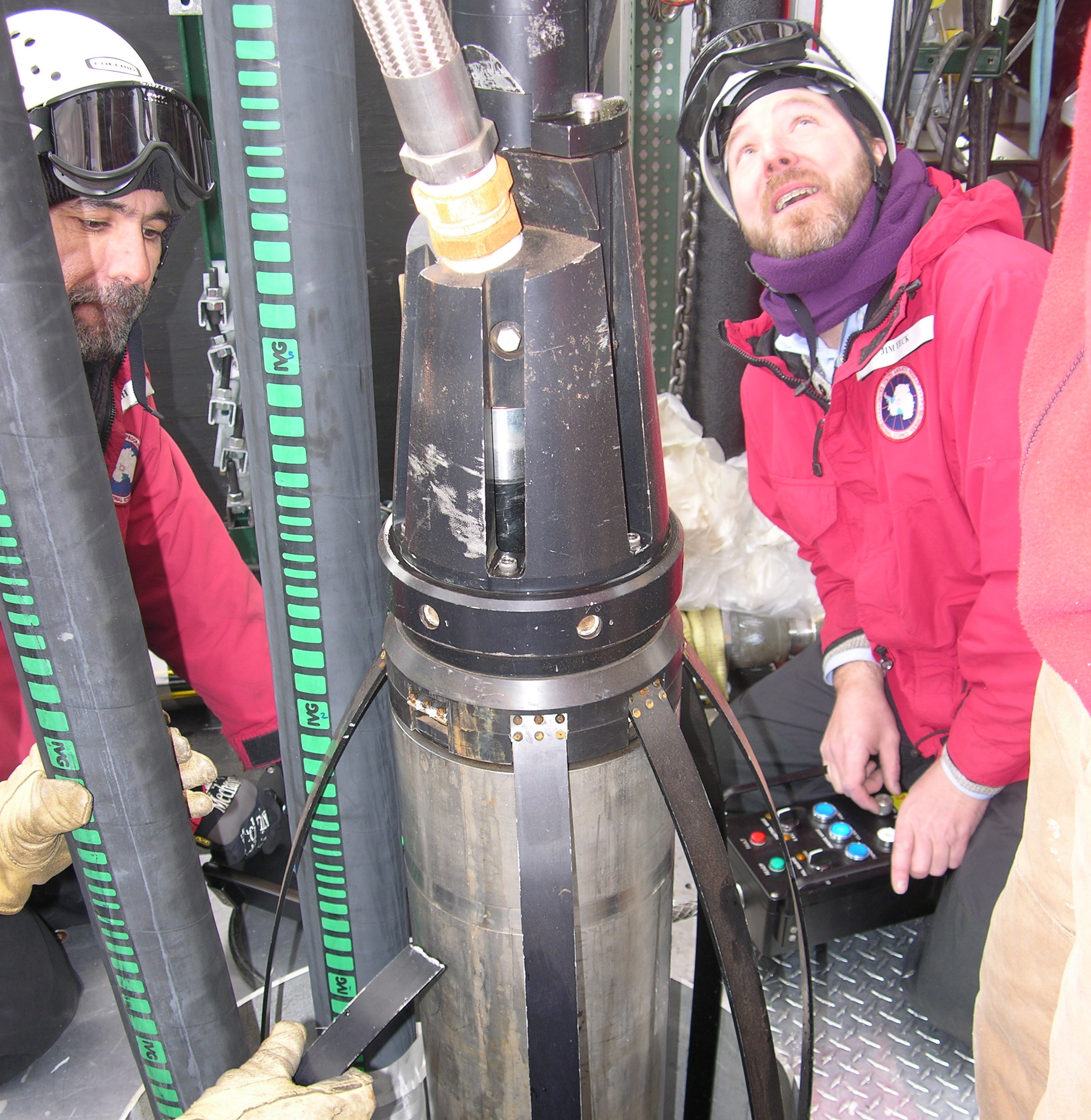 Operating the IceCube enhanced hot water drill