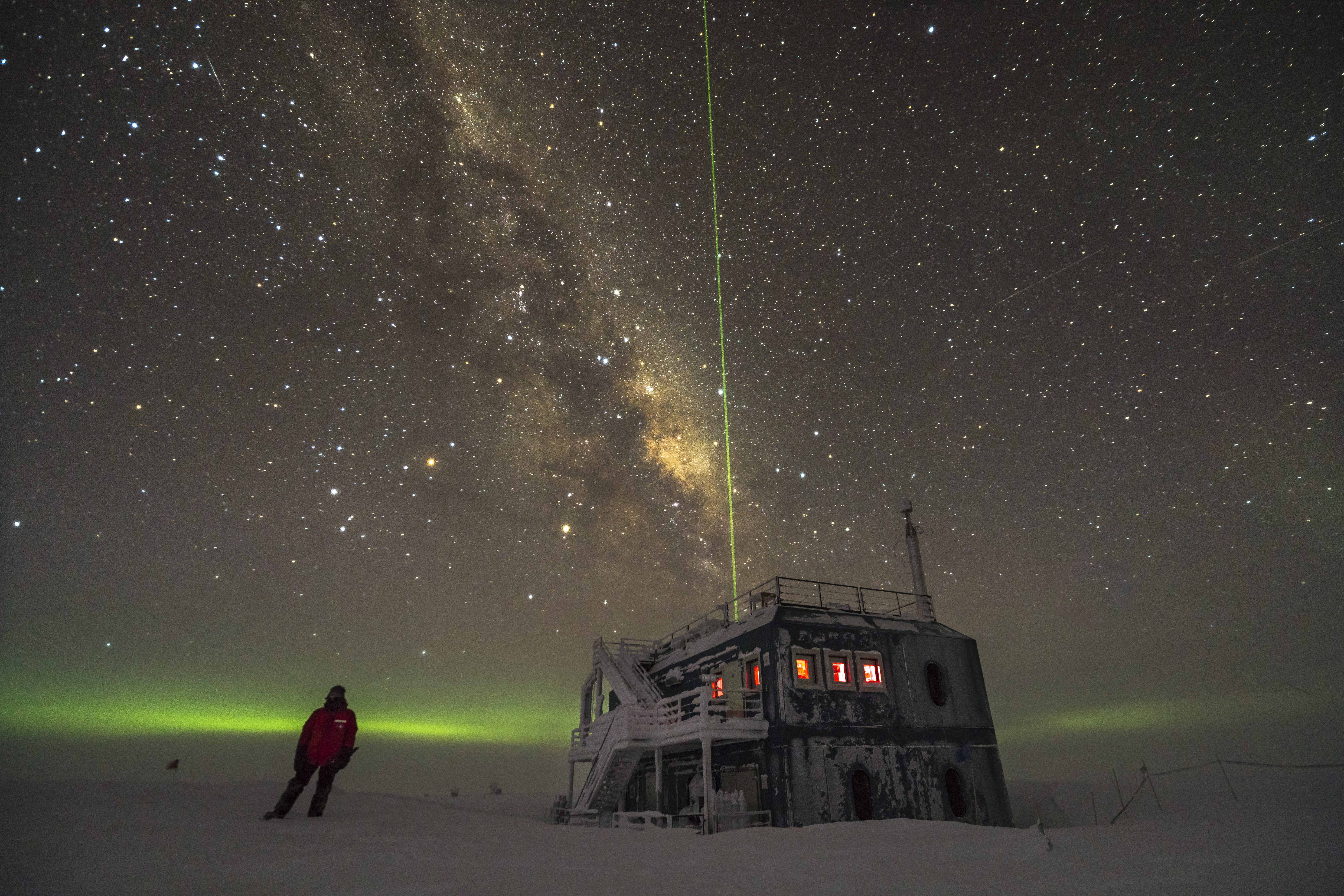 Standing under the stars near the Atmospheric Research Observatory – 2017
