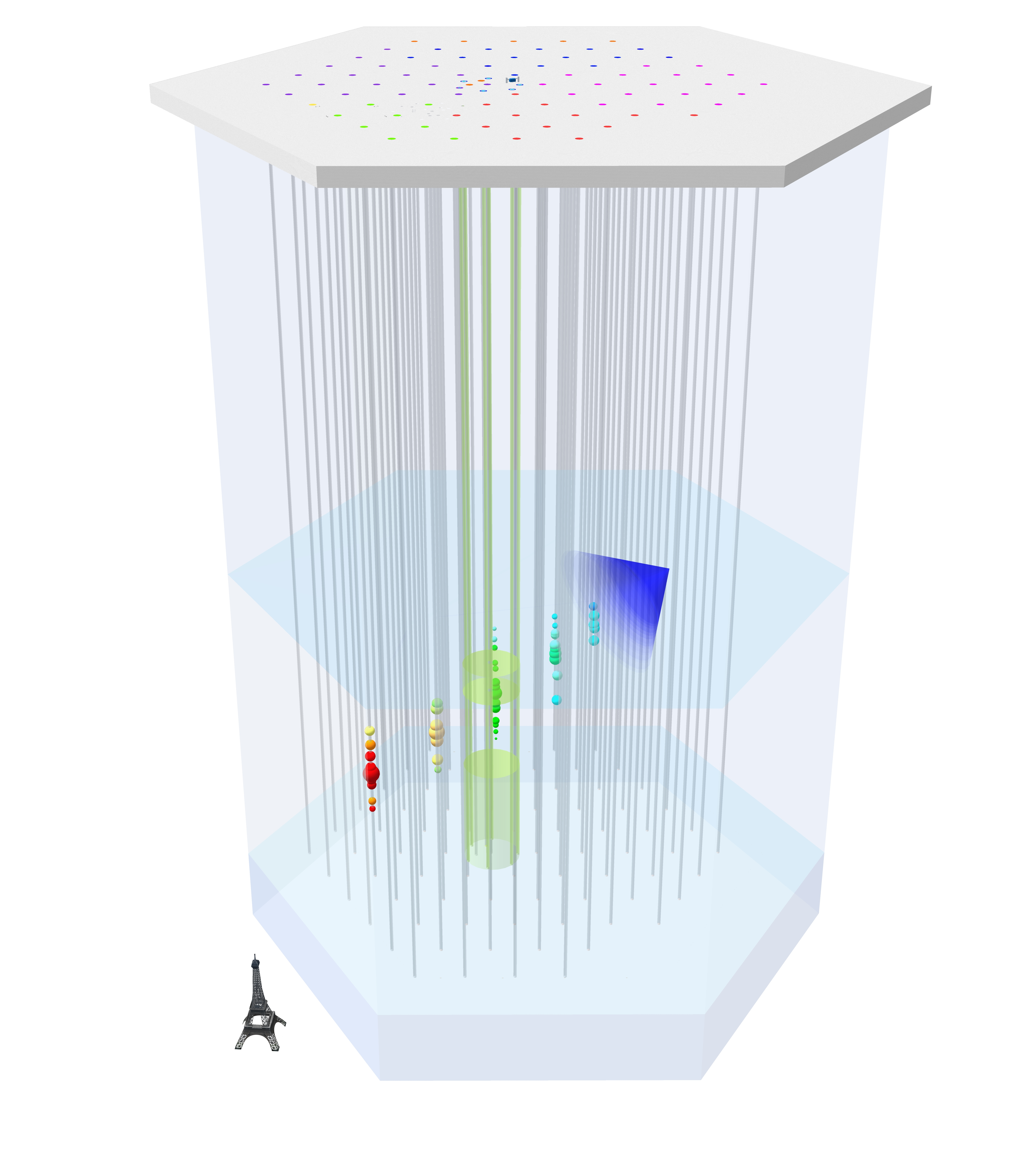 Schematic view of a neutrino detected in IceCube