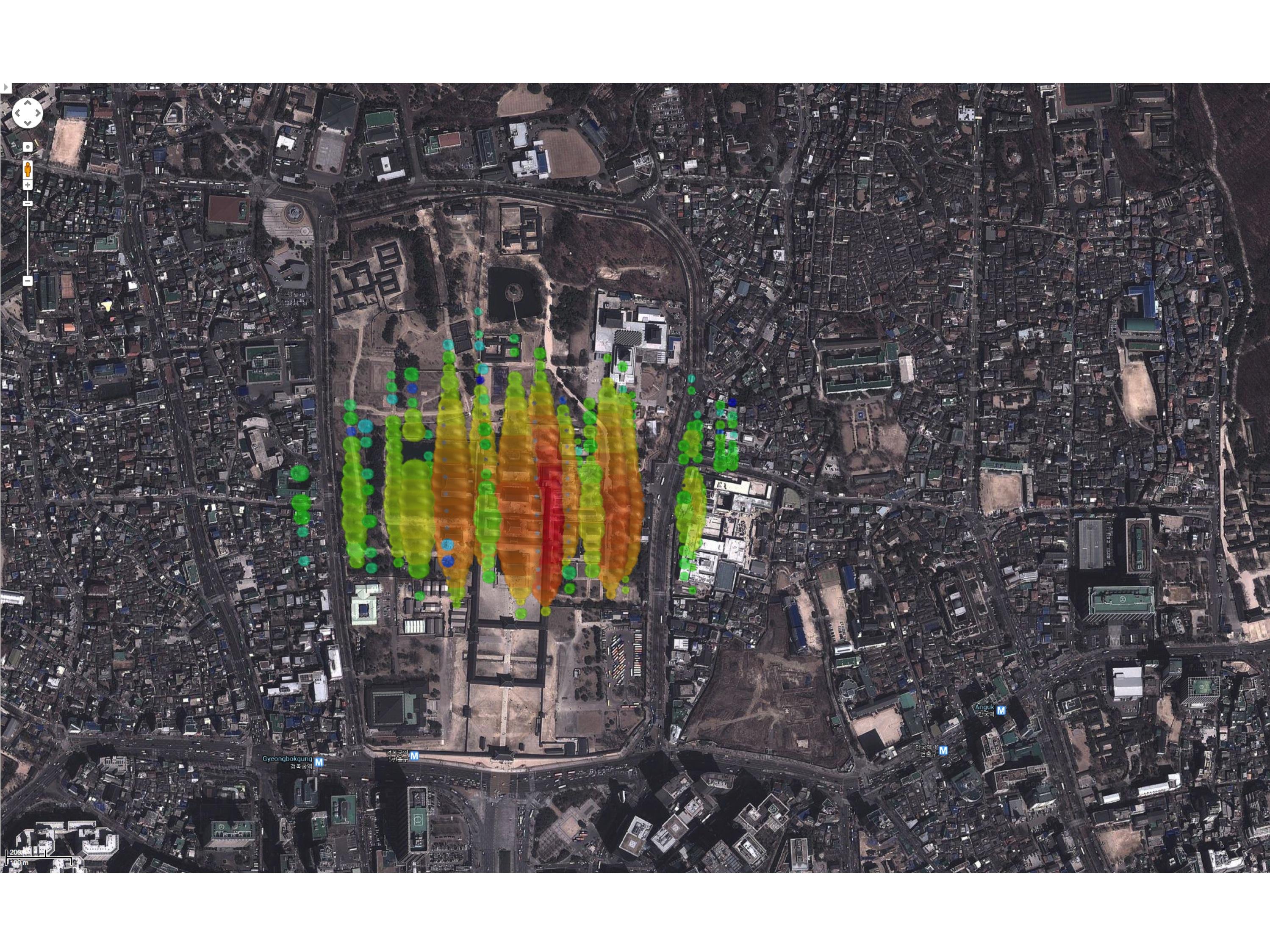 A high-energy neutrino over Seoul, Korea