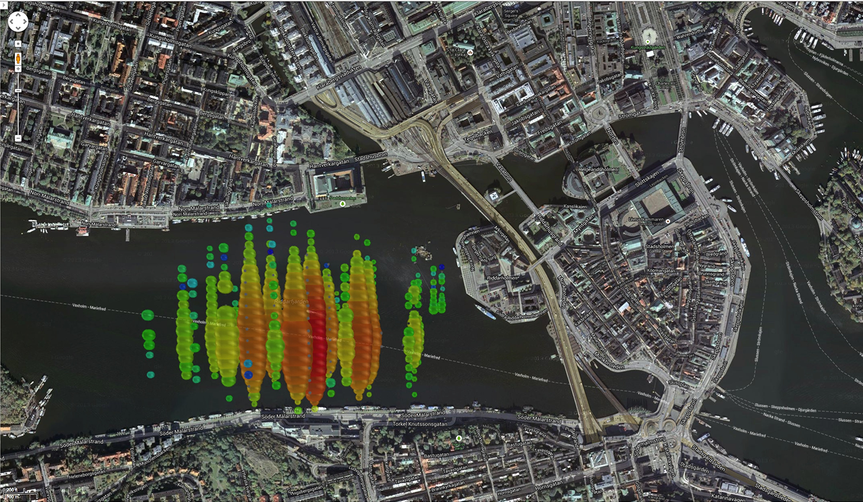 A high-energy neutrino over Stockholm, Sweden