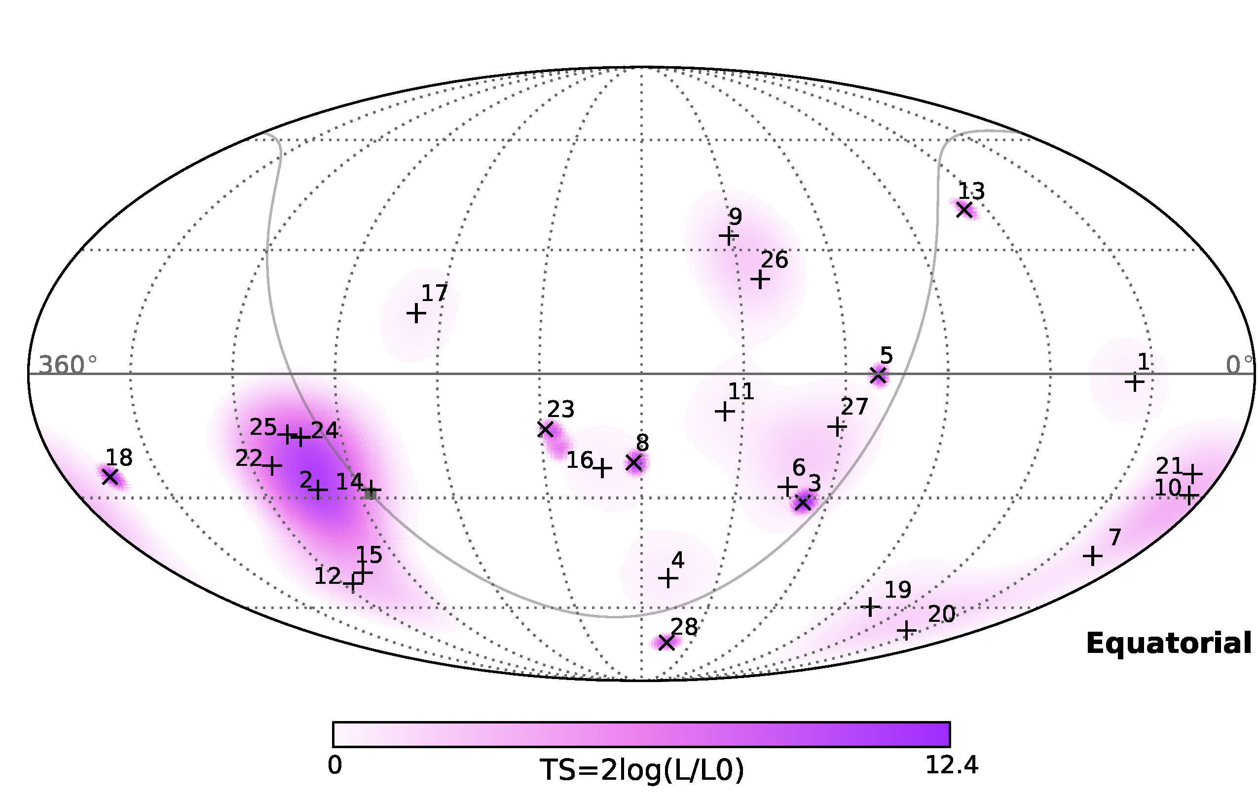 Sky map of the flux of extraterrestrial high-energy neutrinos in IceCube