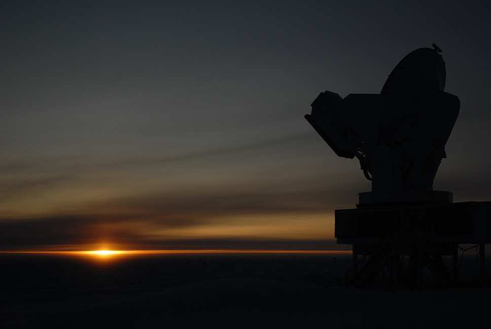 South Pole at sunrise