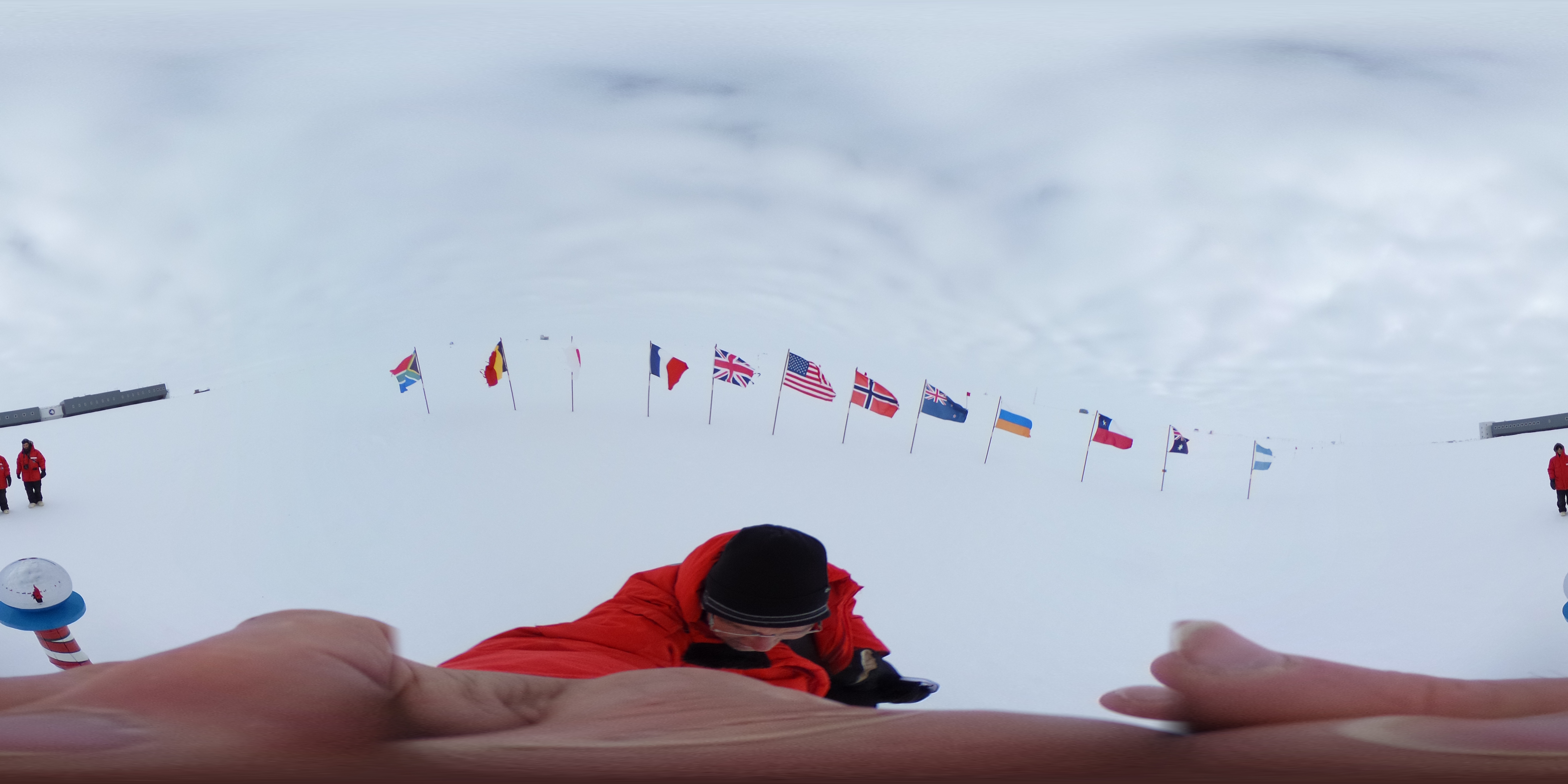 Ceremonial South Pole in 360 degrees