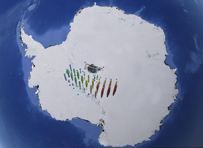 Neutrino IC170922 on Antarctica