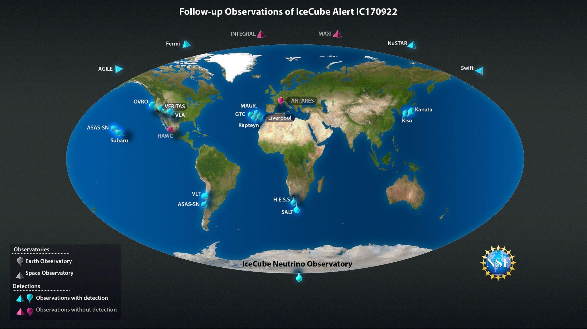 A multimessenger follow-up of neutrino IC170922